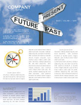 Business Concepts: Future Past Newsletter Template #04063