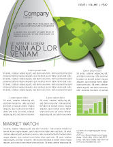 Nature & Environment: Green Ideas Newsletter Template #04090