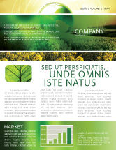 Nature U0026 Environment: Modern Agriculture Newsletter Template #04097  News Letter Formats