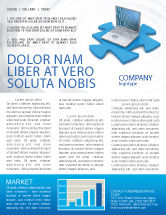Technology, Science & Computers: Laptop Data Newsletter Template #04108