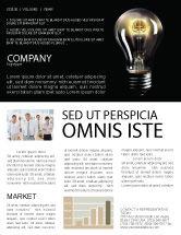 Business Concepts: 뉴스레터 템플릿 - 전등 #04138