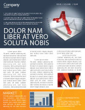 Financial/Accounting: Diagram In Isometric View Newsletter Template #04139