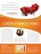 Consulting: Team Efforts Newsletter Template #04158