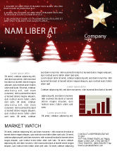 Holiday/Special Occasion: Fir Tree Theme Newsletter Template #04165