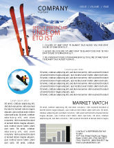 Sports: Skis Newsletter Template #04169
