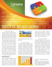 Business Concepts: Puzzleteile Newsletter Vorlage #04170