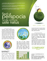 Nature & Environment: Green Planetoid Newsletter Template #04184