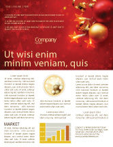 Holiday/Special Occasion: Red Christmas Theme Newsletter Template #04186