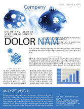 Holiday/Special Occasion: Christmas Decoration Ball Newsletter Template #04190