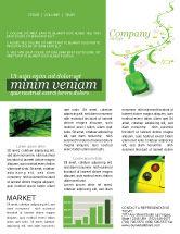 Nature & Environment: Green Car Newsletter Template #04204