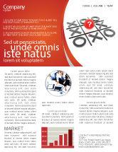 Consulting: Modèle de Newsletter de tic-tac-toe #04226