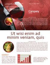 Food & Beverage: Wine Glass Newsletter Template #04235