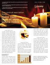 Religious/Spiritual: Modèle de Newsletter de lumière de bougie #04239