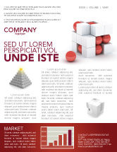 Construction: Cubic Structure Newsletter Template #04243