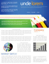 Education & Training: Color Pencils Lines Newsletter Template #04251