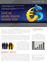 Financial/Accounting: Euro vs. Dollar Newsletter Template #04268