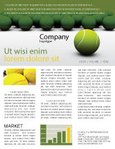 Sports: Tennis Balls Newsletter Template #04296