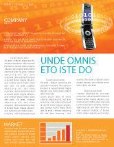 Telecommunication: Mobile Service Provider Newsletter Template #04320