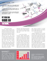 Telecommunication: Multicomputer System Newsletter Template #04331