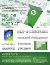 Nature & Environment: Recycling Technology Newsletter Template #04339