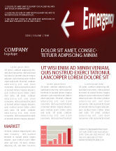 Business Concepts: Emergency Sign Newsletter Template #04341