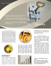 Business Concepts: Schlüssel zu allem Newsletter Vorlage #04347