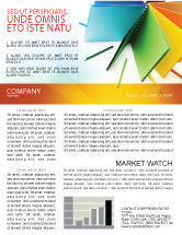 Business: Color Paper Newsletter Template #04355