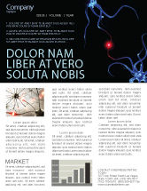 Medical: Communicating Neurons Newsletter Template #04356