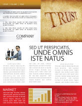 Financial/Accounting: Trust Newsletter Template #04364