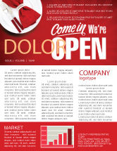 Careers/Industry: We Are Open Newsletter Template #04405