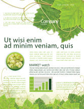 Nature & Environment: Grape Leaves Ornament Newsletter Template #04421
