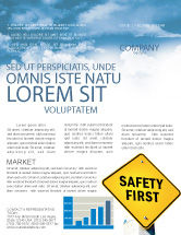 Careers/Industry: Safety First Newsletter Template #04449