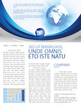 Global: Blue Globe Newsletter Template #04456