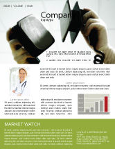 Medical: Defibrillator Newsletter Template #04487