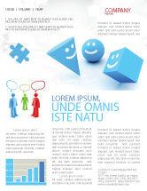 Education & Training: Modèle de Newsletter de sourires #04495