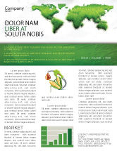 Nature & Environment: Green Grass of World Newsletter Template #04500