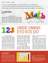 Education & Training: Math Addition Newsletter Template #04501