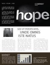 Religious/Spiritual: Modèle de Newsletter de espérer #04503