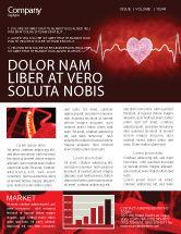Medical: Heartbeat Newsletter Template #04504