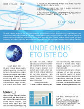 Telecommunication: Television Tower Newsletter Template #04548
