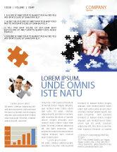 Business: Modèle de Newsletter de puzzle de partenariat #04550