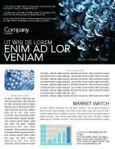 Nature & Environment: Water Drops Newsletter Template #04555