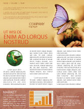 Nature & Environment: Butterfly In Your Hands Newsletter Template #04567