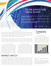 Financial/Accounting: Modèle de Newsletter de tableau de tarif #04596