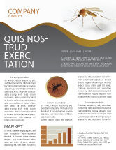 Agriculture and Animals: Mosquito Newsletter Template #04599