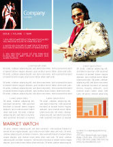 Art & Entertainment: Elvis Presley Newsletter Template #04602