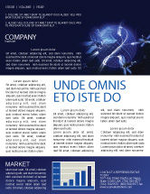 Telecommunication: General Position System Newsletter Template #04610