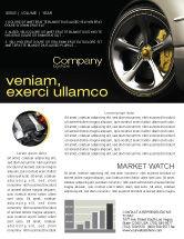 Cars/Transportation: Driving Wheel Newsletter Template #04629