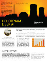 Utilities/Industrial: Nuclear Power Plant Newsletter Template #04632