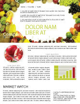 Agriculture and Animals: Fruit Profusion Newsletter Template #04634